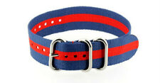 NAGATAC Nylon Watch Strap Band 3Ring Military JamesBond Stainless Buckle 20/22 R