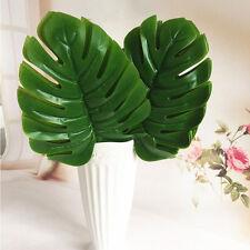5 pcs Large Artificial Monstera Branch Palm Fern Turtle Leaf Faux Foliage Leaves