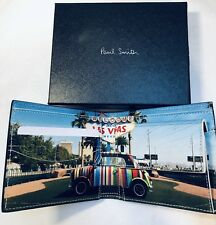 Paul Smith Men Wallet With Coin Black Made In Italy Las Vegas Special Offer
