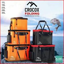 Crocox Fishing Boxes Bucket Tackle Storage Plastic Live Bait Folding Small Large