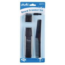 NEW MENS BEARD TRIMMER SHAVER REMOVER GROOMING KIT SET CLEANLINESS 4PC UK