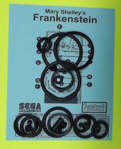 1995 Sega Mary Shelley's Frankenstein pinball rubber ring kit