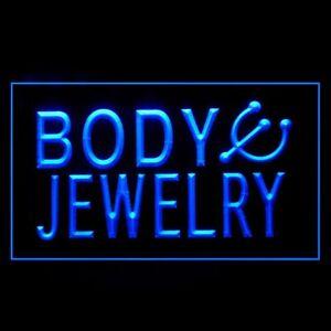 100019 Body Jewelry Piercing Shop Ear Display Neon Sign