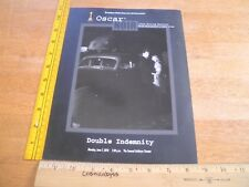 Double Indemnity Oscar Noir movie program 2010 Barbara Stanwyck Samuel Goldwyn T