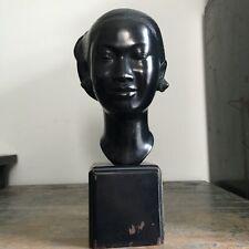 NGUYEN THANH LE Bronze Bust Woman Sculpture Vietnamese Artist Vietnam Fine Art