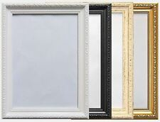 Shabby chic Ornate French style Poster frame Cream White Gold Black