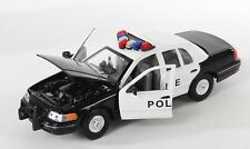 BLITZ VERSAND Ford Crown Victoria Police 1:24 Welly Modell Auto NEU & OVP