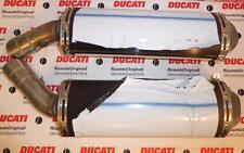 2008 Ducati 1098S Tre Colore PAIR exhaust muffler silencers 57311993D  57411963D