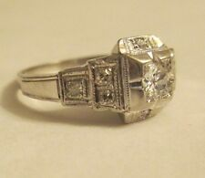 ESTATE 18K  Gold  Diamond  Ring  Dia=2/3 Carat VS2-F   9 MM Wide Size 6 1/4