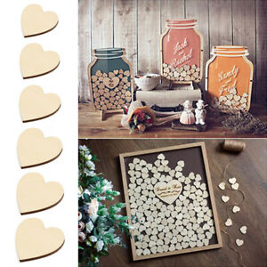 10mm-80mm Engraved Wooden Love Heart Shapes Slices DIY Ornament Scrapbooking Acc