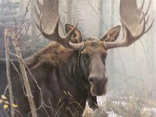"Bull Moose  - By Robert Bateman LTD Canvas  size 30"" x 40"""