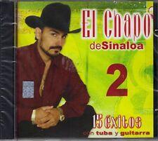El Chapo De Sinaloa 2 15 Exitos Con Tuba Y Guitarra CD Nuevo Sealed
