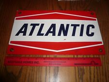 Porcelain Antique Atlantic Gasoline Gas Pump Sign Circa 1950,1960,1970