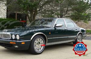 "1986-1997 Jaguar XJ6 Chrome Rocker Panel Trim Extreme Lower Overlay 4.5"" 2Pc"