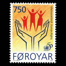 Faroe 1998 - 50th Anniversary of Human Rights - Sc 338 MNH