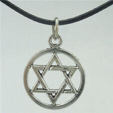 "Antique Star of David Judaica Pendant Jewish Symbol Magen David 17"" Necklace"