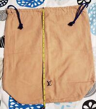 "Louis Vuittons Vintage Blue drawstring Dustbag 19.5 "" H × 17.5""W"