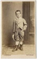 Photo Rotterdam Hollande Cdv Carte de Visite Albuminé Vers 1860
