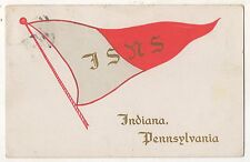 IUP INDIANA UNIVERSITY OF PENNSYLVANIA Pennant, State Normal School PA Postcard