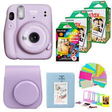 Fujifilm Instax Mini 11 Camera Lilac Purple + 50 Fuji Film Top Accessory Bundle