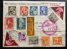 1936 Oirschct Netherlands LZ 129 Hindenberg Zeppelin Cover to New York Usa