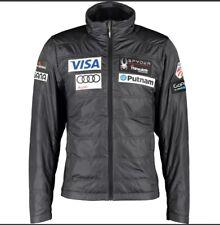 Spyder Grey Padded Motorsports Ski Jacket US Ski Team Branded Motifs Size M New