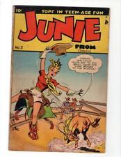 Junie Prom #3 DEERFIELD PUBLISHING-1948-Rodeo-10c-Teen-age Fun 5.5