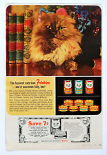 Vintage 1965 Friskies cat food retro coupon advertisement print ad art