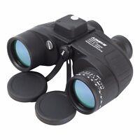 7X50 Binoculars with Night Vision Rangefinder Compass Waterproof BAK4 Prism