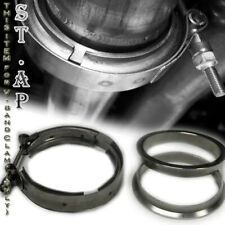 Universal 2.5 ''Inch Turbo Exhaust Downpipe Stainless Steel V-Band Clamp & Flang