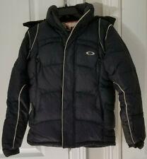 Oakley Women's Puffer Coat Navy Goose Down Snowboard Ski Winter Jacket Size XXS