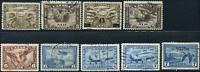 Canada #C1-C9 used F/VF 1928-1946 Airmail Issue Set some with CDS cancels