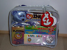 SEALED TY BEANIE BABY PLATINUM MEMBERSHIP GIFT SET CARRYING CASE CARDS COIN BEAR