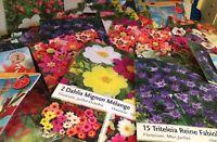 lot revendeur-palette solderie/Destockage De 32 Pochettes Graines Fruit Fleurs