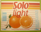 NORWAY SOFT DRINK CORDIAL LABEL, 1980s HANSA BRYGGERI BERGEN, SOLO ORANGE LITE 1