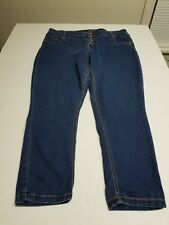 Almost Famous Women's Blue Skinny Stretch Button Fly Jeans Size 20w Pre-owned