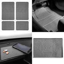 All Weather Heavy Duty Gray Floor Mats for Auto Car SUV w/ Dash Mat