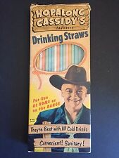 """1950's Hopalong Cassidy, """"Un-Used"""" Box  Paper Drinking Straws"""
