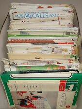 Vtg Sewing Patterns Lot Of 32- 40'S,60'S-90'S - Plus How to Curtains Bedspreads
