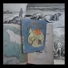 SALGARI EMILIO :  NEL PAESE DEI GHIACCI - PARAVIA 1900 Tela Ed. viaggi caccia