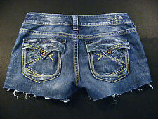 Silver Pioneer CUTOFF JEAN SHORTS Cut Off W 30 Hot Pants Daisy Duke Low Rise