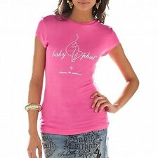Baby Phat...SUPER SEXY...EMBELLISHED GRAPHIC tee...PINK...MEDIUM...NWT..B2A00019