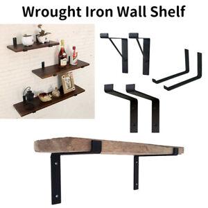 Set Of 2 Heavy Duty Rustic Scaffold Board Shelf Industrial Steel Metal Brackets