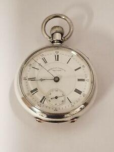 1887 Waltham 18s 15j RR? Adj Waltham Coin Silver pocket Watch