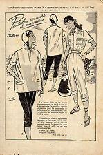 PATRONS supplement à femmes d'aujourd'hui n°320 du 21 juin 1951