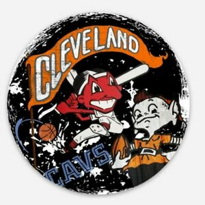 Cleveland ALL IN ONE MAGNET - Browns Indians Cavs Chief Wahoo Brownie CLE OHIO