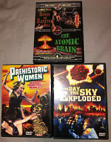 Dvd Lot Oldies Prehistoric Women, Day The Sky Exploded, House On Haunted Hill