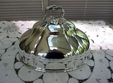 """Antique : Silver Plated  Meat / Turkey  Dome Cover 12""""   Bell shaped Wall Sconce"""