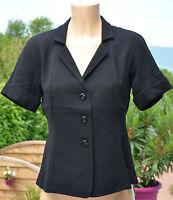 MAXMARA- Très jolie  veste manches courtes noir -  taille 36 - EXCELLENT ÉTAT