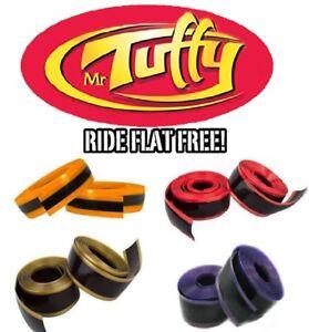 "Mr Tuffy Pair Bike Tire Liner Protection 700c 27"" 29"" Orange Red Gold Purple"